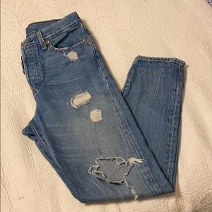 Levi's Distressed Wedgie Jeans for Women